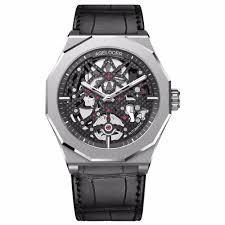 <b>Agelocer Skeleton</b> Diver Watches for Men Genuine Leather Strap ...