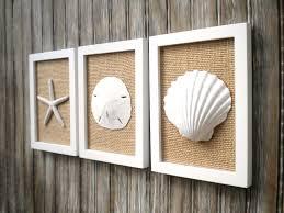 decor coastal cabin cottage chic set of beach decor wall art sea shell home decor beach ho