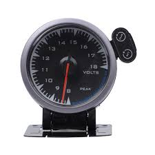 New Car Voltmeter Voltage Gauge <b>8</b>~<b>18V</b> 2.5 Inch <b>60mm</b> Light For ...