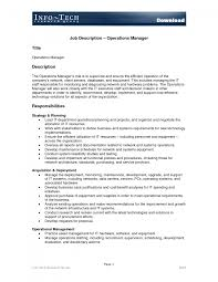 best photos of example job description template sample operations gallery of operations associate job description