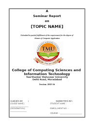 project report front page format doc page for essay antilopine seminar report sample front page