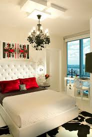 view in gallery palette of black white and red in the stunning miami bedroom bedroombreathtaking stunning red black white