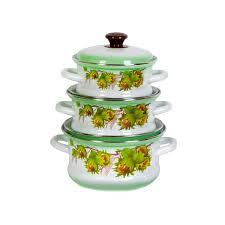 <b>набор эмалированной посуды 3</b> предмета орешек-1 купить ...