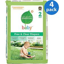 $!Seventh Generation - <b>Free & Clear Diapers</b> Size 2, 40 ct (Pack of 4 ...