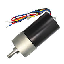 High Torque <b>DC Brushless Gear Motor</b> - Black + Grey | Electric ...
