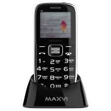 Купить Мобильный <b>телефон Maxvi B6</b> Black в каталоге интернет ...