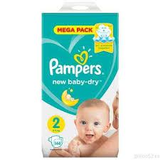 <b>Pampers Подгузники New</b> Baby-Dry 4-8 кг, размер 2, 144 шт.