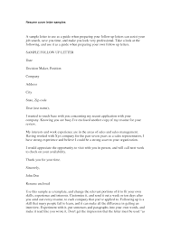 follow up cover letter entry level experienced samples of follow follow up on resume email follow up after resumes template follow up cover letter