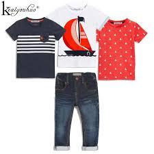 High Qulity <b>4Pcs</b> Boys Clothes <b>Sets Summer</b> Children Clothing Baby ...