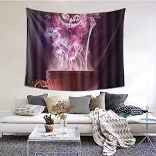 LASINSU Tapestry Wall Hanging,<b>Halloween Skeleton Pumpkin</b> Print ...