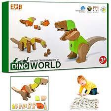 StoHua 33 Piece Wooden Dino Blocks Toy Set ... - Amazon.com