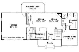 Ranch House Plans   Gatsby     Associated DesignsRanch House Plan   Gatsby     First Floor Plan