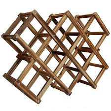 <b>Wooden Red Wine Rack</b> 10 Bottle Holder Mount Bar Display Shelf ...