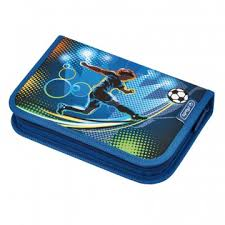 <b>Пенал Herlitz</b> 31 предмет, <b>Soccer</b>, 20,5х14х3,5 см, 50008391