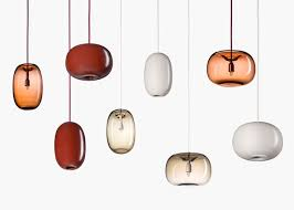 joel karlsson designs pebble shaped pendant lights for rsj blown pendant lights lighting september 15