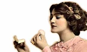 Image result for vintage woman putting on makeup