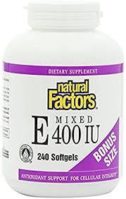 <b>Natural</b> Factors - <b>Mixed</b> Vitamin <b>E 400UI</b> - 240 softgels: Amazon.ca ...