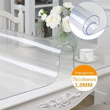 <b>Waterproof</b> Tablecloth Transparent Tablecloth Kitchen Table Cover ...