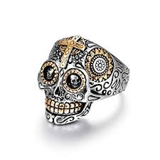 LAOYOU <b>Sugar</b> Skull Rings for Men Women, <b>Stainless Steel</b> Day of ...