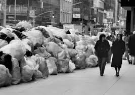 Image result for picture of NYC trash strike