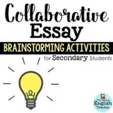 sociograms  an alternative to the essaymiddle school english and high school english essay brainstorming activities