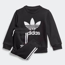 adidas <b>Комплект</b>: свитшот и <b>брюки</b> Crew - черный   adidas Россия