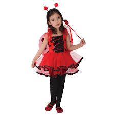 Kids Child <b>Girls</b> Lovely Ladybug Ladybird Fairy Cosplay Costume ...