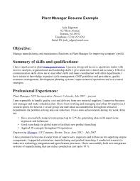 plant manager resume best photos of plant job description example gallery of plant equipment manager resume