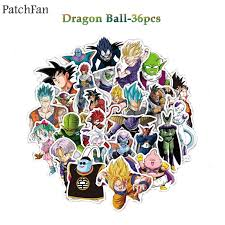 A0487 <b>Patchfan</b> 36pcs <b>Dragon ball</b> SON GOKU stickers for party gift ...