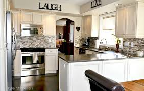kitchen remodel painted cabinets stainless steal oak kitchen remodel and update with painted cream cabinets dark wood f