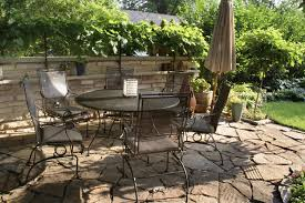 patio dining: outdoor dining  natural stone patio dining area outdoor dining