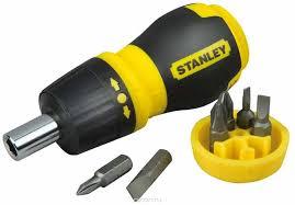 """<b>Отвертка Stanley</b> """"<b>Stubby</b> Multibi"""", <b>реверсивная</b> +6 бит — купить в ..."""