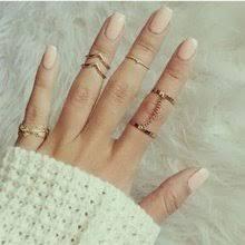 Charm Gold Color Midi Finger Ring <b>Set</b> for Women Promotion-Shop ...