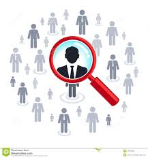 job search magnifying glass searching people royalty stock job search magnifying glass searching people
