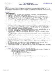 resume samples qa engineer  seangarrette coresume
