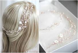 Golden Rose   A <b>rose gold bridal</b> headpiece for Madeliene