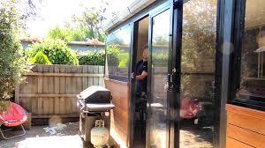 door patio window world: pvc awning windows amp bi fold doors clear alternative to cafe amp bistro blinds youtube