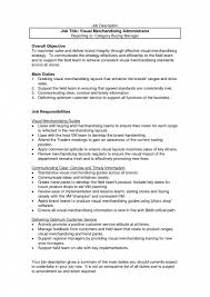 Merchandiser Responsibilities Resume Resume For Your Job Application