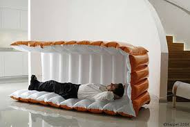for those whove always wanted a portable inflatable bed for the office look no furthur than the sleeping cube no word yet on pricing or availability bed office