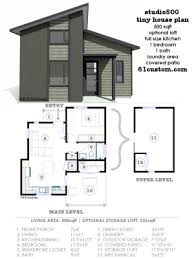 Modern House Plans  Floor Plans  Contemporary Home Plans   customstudio   modern tiny house plan