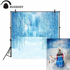 allenjoy photographic frozen backdrops icicles moutain fairy tale child winter wonderland background photography photocall