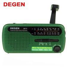 DEGEN <b>DE13 FM AM</b> SW <b>Radio</b> Crank Dynamo Solar Power ...