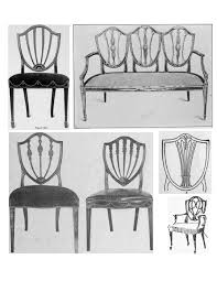 hepplewhite shield dining chairs set: the hepplewhite design striking neo classic features of style