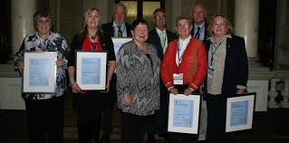 new life members federation life membership was bestowed on back from left terry timms mark thurston peter vernon front marcia eagleston mandy wells
