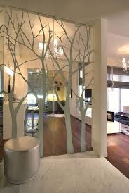 Wall Design Ideas Feature Wall I Like The Illusion Of Broken Glass With The Tree Branches And The