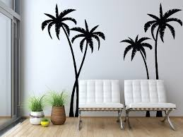 palm tree wall stickers: tropical palm trees silhouette wall decal