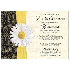 retirement party invites gangcraft net retirement party invitation daisy black gold ivory party invitations