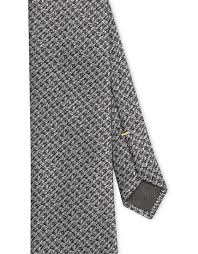 Gray pure silk tie with <b>knitted pattern</b>, Made in Italy. Check out the ...