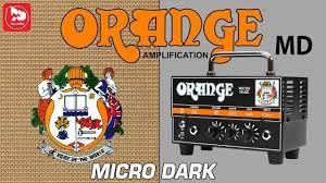 <b>Orange</b> Micro Dark - маленький гибридный гитарный усилитель ...