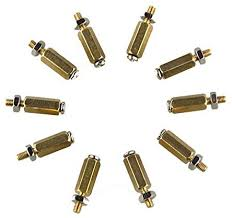 <b>DIY 11MM Hex Brass</b> Cylinder + Screw + Nut Kits For Raspberry Pi ...